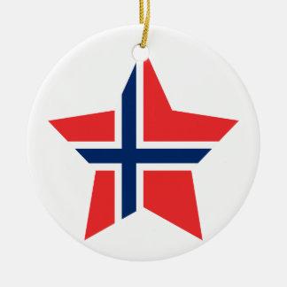 Norway Star Ceramic Ornament