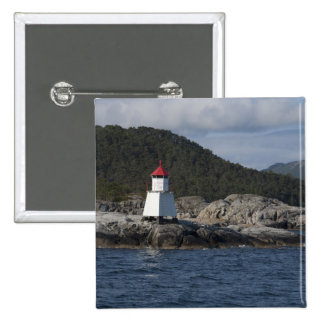 Norway, Stavanger. Views along Lysefjord. 2 Inch Square Button
