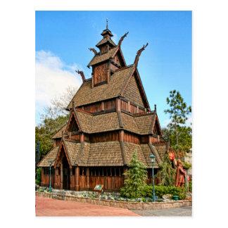 Norway, Stave Church Postcard