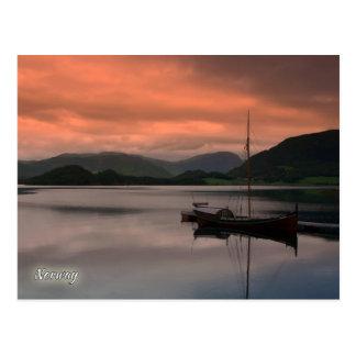 Norway, sunset at Otnes Postcard