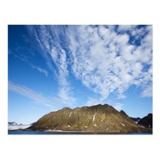 Norway, Svalbard, Clouds above steep cliffs Postcard
