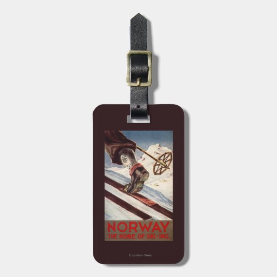 Norway - The Home of Skiing Luggage Tag