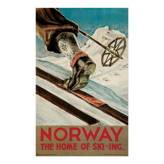 Norway The Home Of Skiing Poster