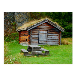 Norway, traditional farmer's hut, high pastures postcard