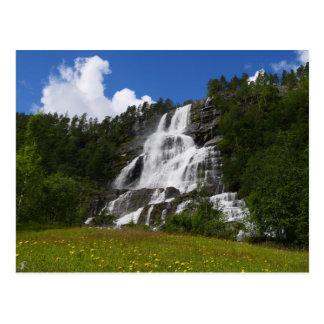 Norway - Tvindefossen waterfall Postcard