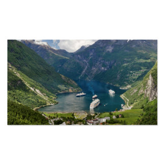 Norway view to Geiranger from Flydalsjuvet Business Card