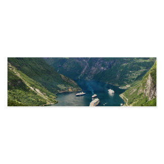 Norway view to Geiranger from Flydalsjuvet Mini Business Card