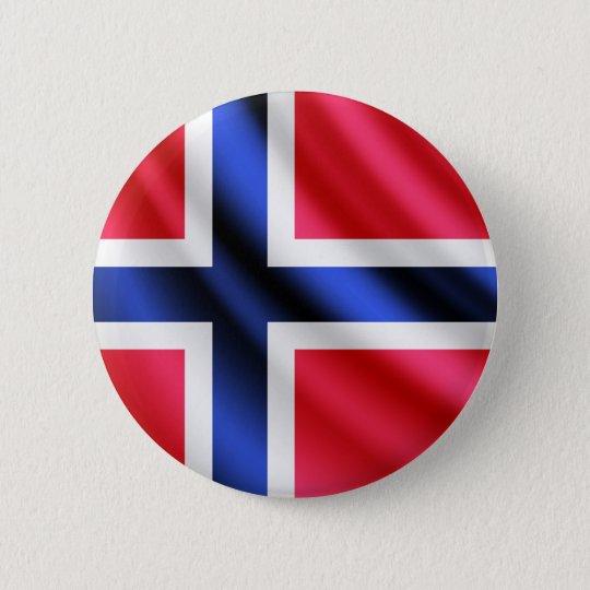 Norway waving flag pinback button