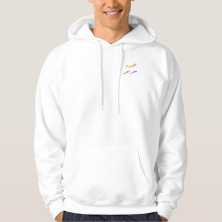 Norway world country, colorful text art hoodie