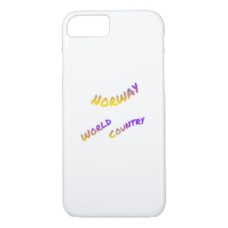 Norway world country, colorful text art iPhone 8/7 case