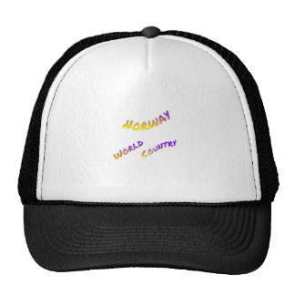 Norway world country, colorful text art trucker hat