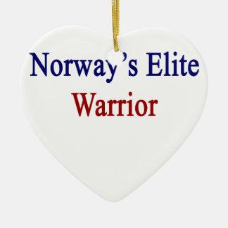 Norway's Elite Warrior Ceramic Heart Ornament