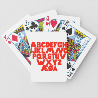 Norwegian Alphabet Bicycle Playing Cards