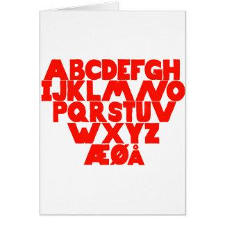 Norwegian Alphabet Card
