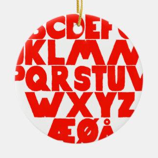 Norwegian Alphabet Ceramic Ornament
