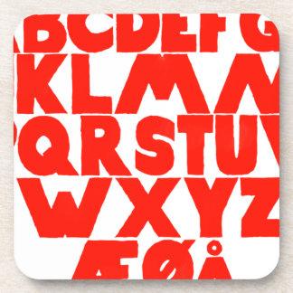 Norwegian Alphabet Coaster