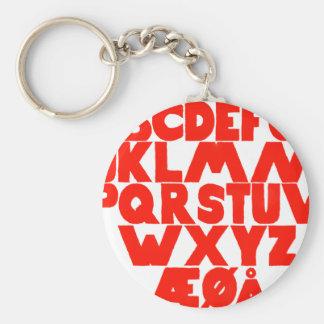 Norwegian Alphabet Keychain