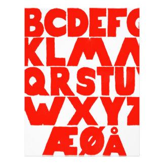 Norwegian Alphabet Letterhead