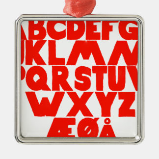 Norwegian Alphabet Metal Ornament