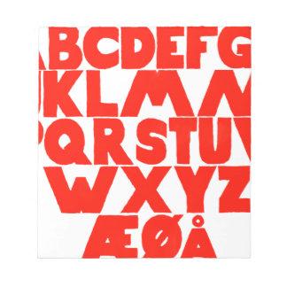 Norwegian Alphabet Notepad