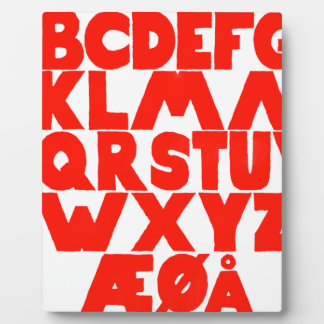Norwegian Alphabet Plaque