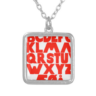 Norwegian Alphabet Silver Plated Necklace