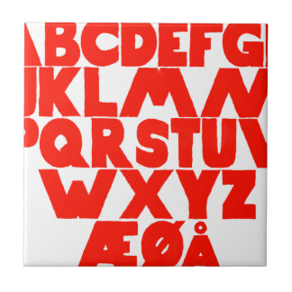Norwegian Alphabet Tile