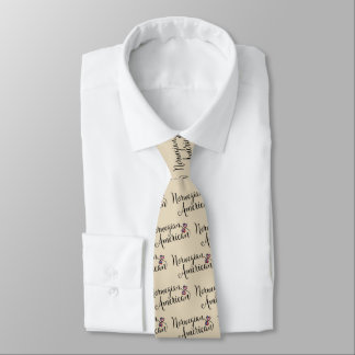 Norwegian American Entwined Hearts Tie