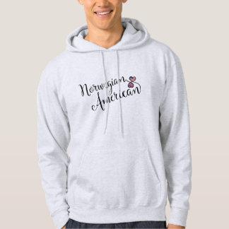 Norwegian American Entwinted Hearts Hoodie