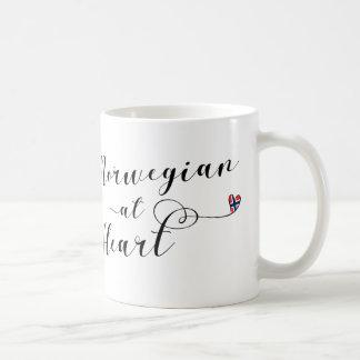 Norwegian At Heart Mug, Norway Coffee Mug