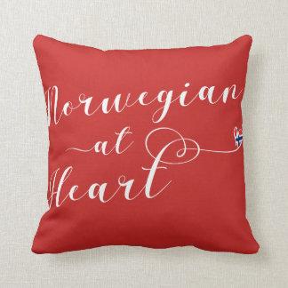 Norwegian At Heart Throw Cushion, Norway Throw Pillow