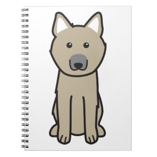 Norwegian Buhund Dog Cartoon Notebook