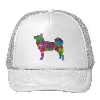 Norwegian Buhund in watercolor Trucker Hat