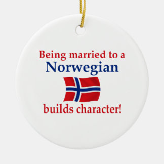 Norwegian Builds Character Ceramic Ornament