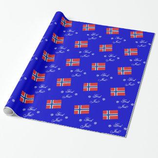 Norwegian Christmas God Jul Custom Wrapping Paper
