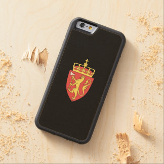 Norwegian coat of arms carved maple iPhone 6 bumper case