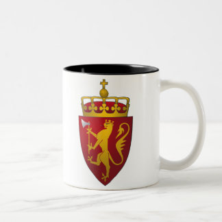 Norwegian Coat of Arms Lion in Red and Gold Two-Tone Coffee Mug