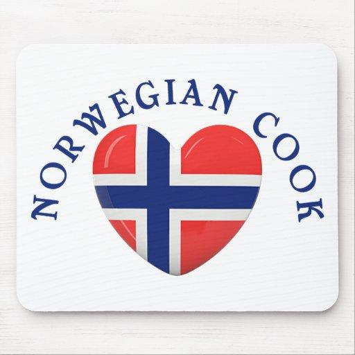 Norwegian Cook Heart Shaped Flag Mousepads