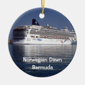 Norwegian Dawn, Norwegian Dawn, Bermuda Round Ceramic Ornament