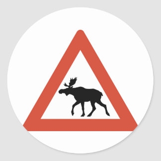 Norwegian Elk Classic Round Sticker