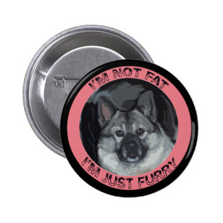 Norwegian Elkhound 2 Inch Round Button