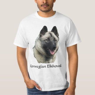 Norwegian Elkhound Art T-Shirt
