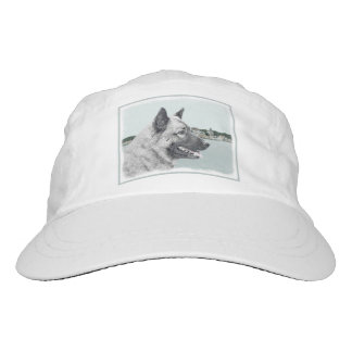 Norwegian Elkhound at Village Painting - Dog Art Hat