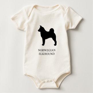 Norwegian Elkhound Baby Bodysuit