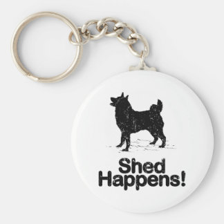 Norwegian Elkhound Basic Round Button Keychain