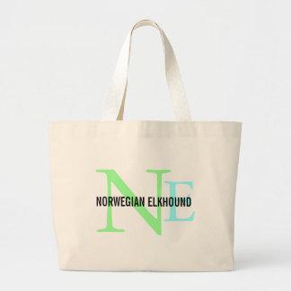 Norwegian Elkhound Breed Monogram Bag