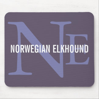 Norwegian Elkhound Breed Monogram Mouse Pad