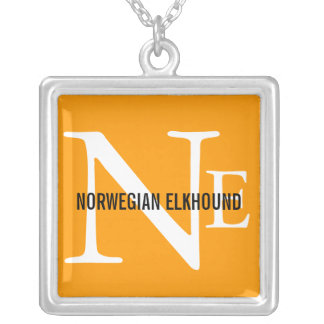 Norwegian Elkhound Breed Monogram Jewelry