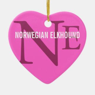 Norwegian Elkhound Breed Monogram Ornaments
