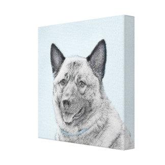 Norwegian Elkhound Canvas Print